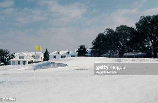 Snow On The 9th Green At The Angc