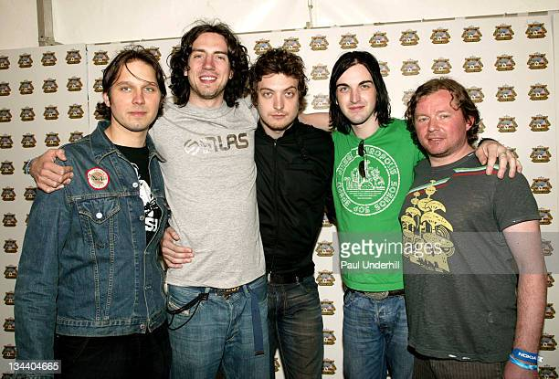 Snow Patrol during 2005 Isle Of Wight Festival Day 3 Backstage at Seaclose Park in Newport Great Britain