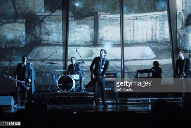 Snow Patrol perform Chasing Cars during 2006 American Music Awards Show at Shrine Auditorium in Los Angeles CA United States