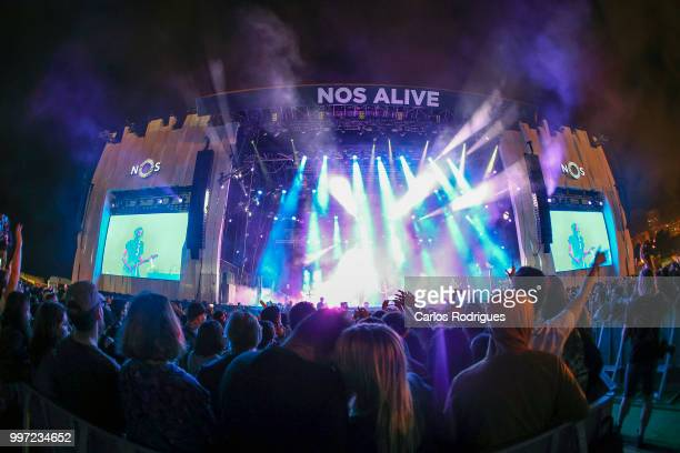 Snow Patrol performs during Day 1 of NOS Alive Festival 2018 on July 12 2018 in Lisbon Portugal