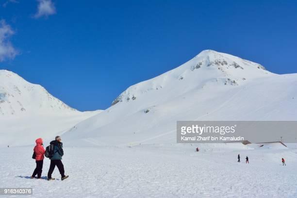 Snow plains nearby Hida Mountains