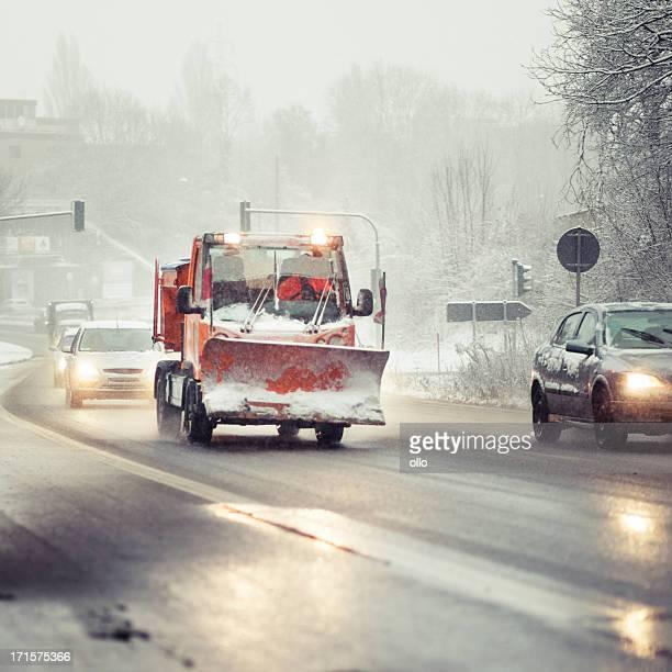 Schnee Pflug Lkw-schlechte Straßenbedingungen