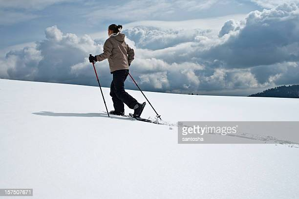 snow rackets - racquet stock pictures, royalty-free photos & images