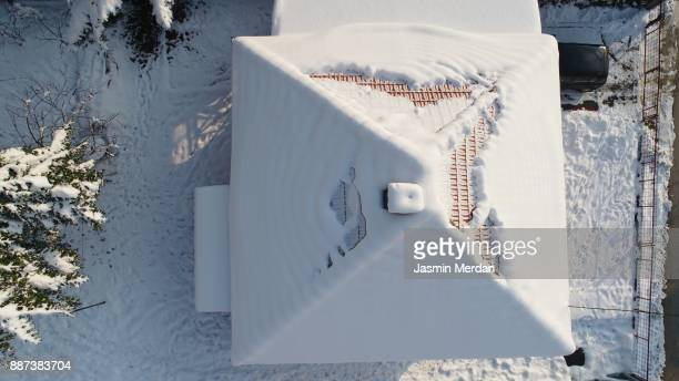Snow roof from the air