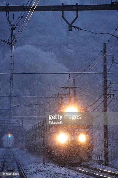 Snow scene of chuo line