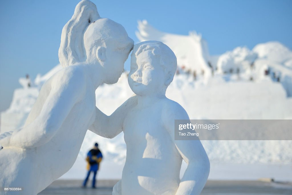 A snow sculpture is seen at Sun Island on December 7, 2017 in Harbin, China. The 30th Harbin Sun Island International Snow Sculpture Art Exposition runs from 20 December 2017 to 28 February 2018.