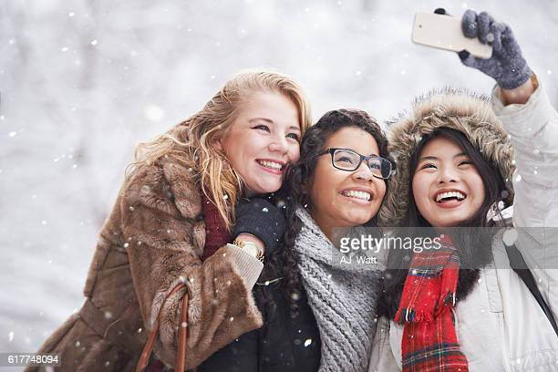 Snow selfies with the girls