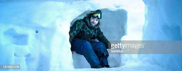 snow shelter (xxxl) - igloo stock pictures, royalty-free photos & images