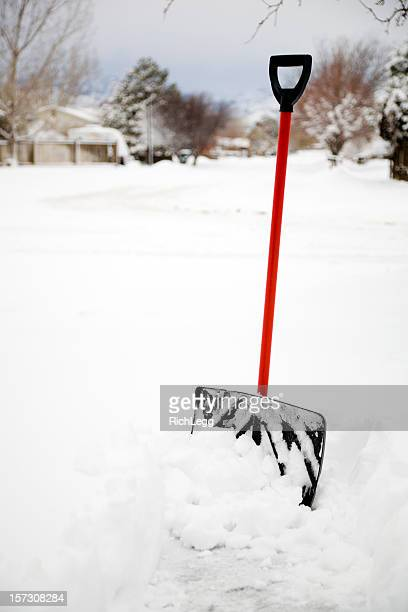 snow shovel - snow shovel stock photos and pictures