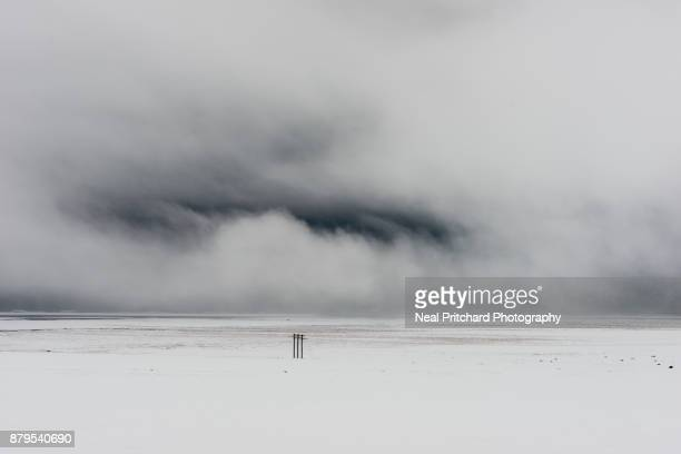 Snow storm clouds over Iceland