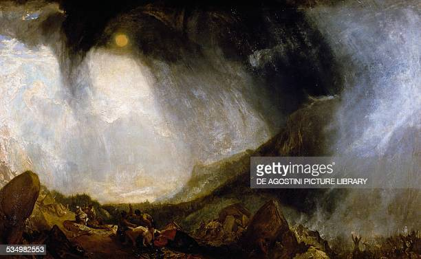 Snow storm Hannibal and his Army crossing the Alps by William Turner oil on canvas 146x237 cm United Kingdom 19th century London Tate Gallery