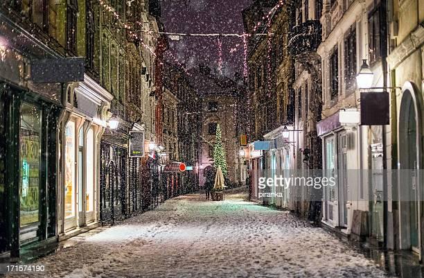Snow storm in Ljubljana