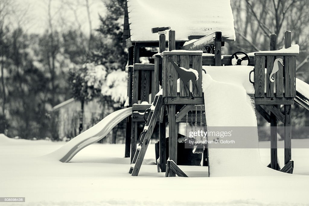 Snow Swing : Stock Photo