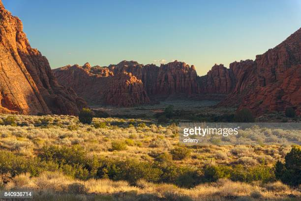 snow valley utah- hdr at sunset - st. george utah stock pictures, royalty-free photos & images