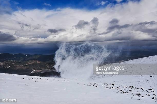Snow vortex in Rila mountain