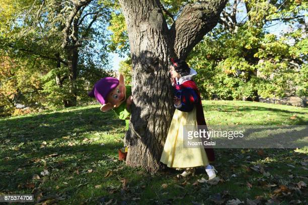 Snow White and Dopey spotted at Central Park playing hide and seek on November 17 2017 in New York City