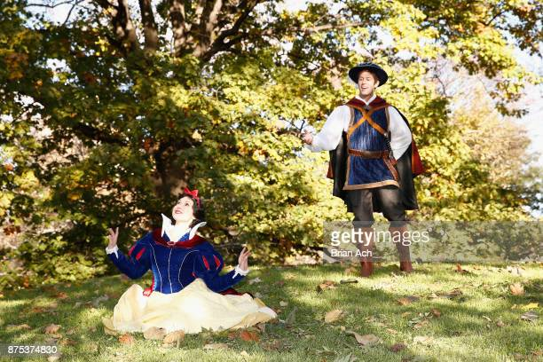 Snow White and The Prince enjoying a fall morning in Central Park on November 17 2017 in New York City
