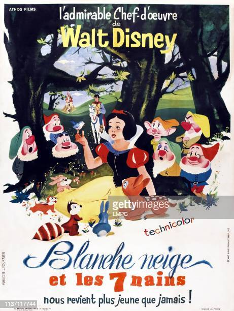 Snow White And The Seven Dwarfs poster French poster 1937