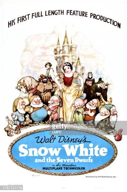Snow White And The Seven Dwarfs poster US poster art 1937