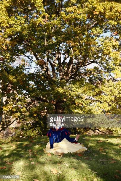 Snow White enjoying a fall morning in Central Park on November 17 2017 in New York City