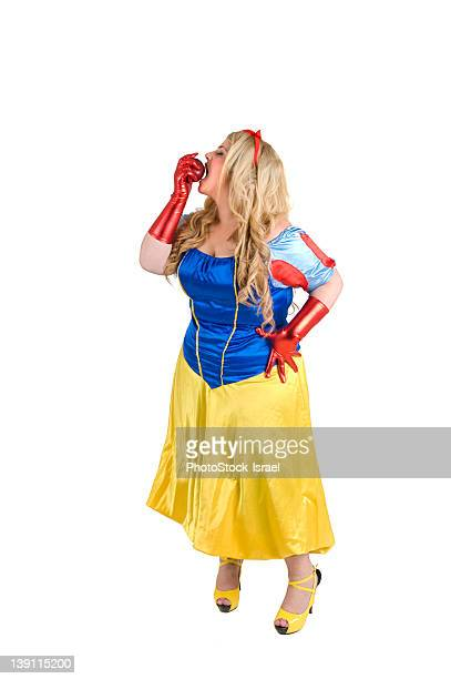 snow white with poison apple - fat women in high heels stock pictures, royalty-free photos & images