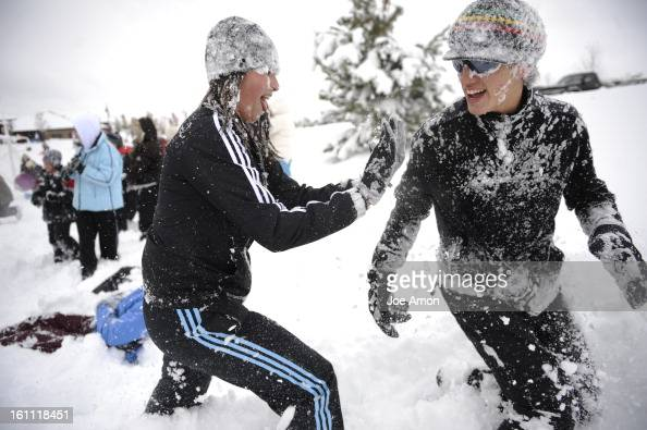 Snowball Fight At Broomfield Commons Park. Joe Amon, The