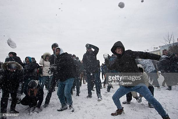 CONTENT] Snowball fight on Marsovo field in StPetersburg Russia