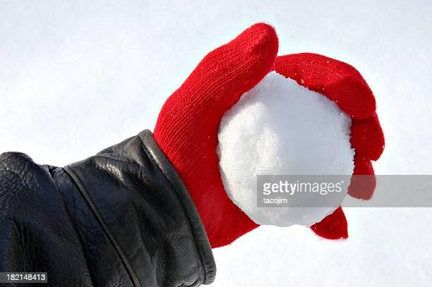 La bataille de boules de neige