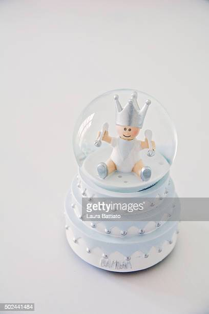 Snowball glass toy for a baby boy room