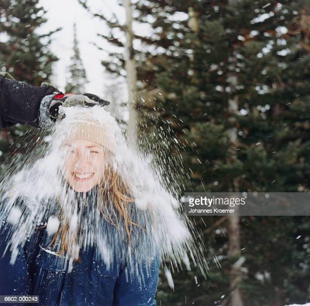 Snowball Hitting Woman