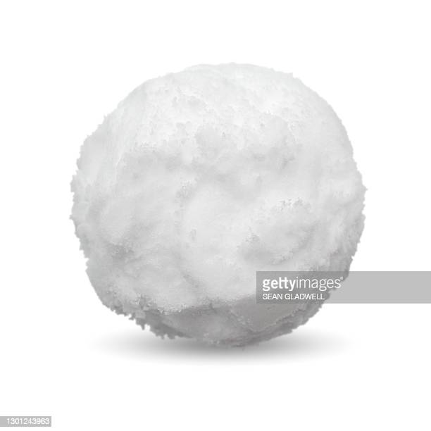 snowball on white background - snow stock pictures, royalty-free photos & images