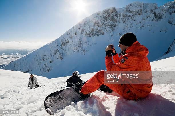 Snowbaorders on mt. Durmitor