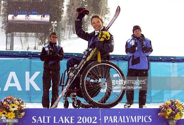 CITY 2002 SnowBasin RIESENSLALOM/FRAUEN/SITZSKI GOLD fuer Sarah WILL/USA