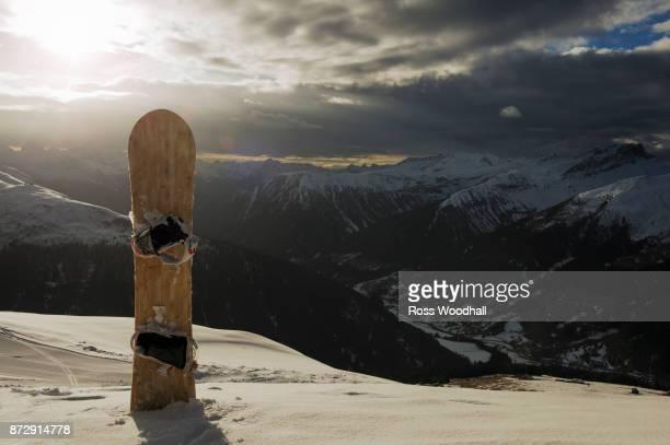 Snowboard, Davos, Switzerland.