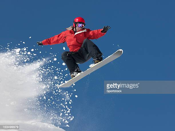 snowboard jump - boarding stock pictures, royalty-free photos & images
