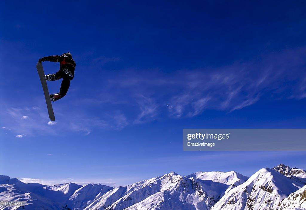 Snowboard Jump : Stock Photo