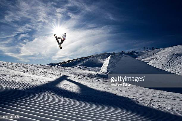 snowboard silhouette - boarding stock pictures, royalty-free photos & images