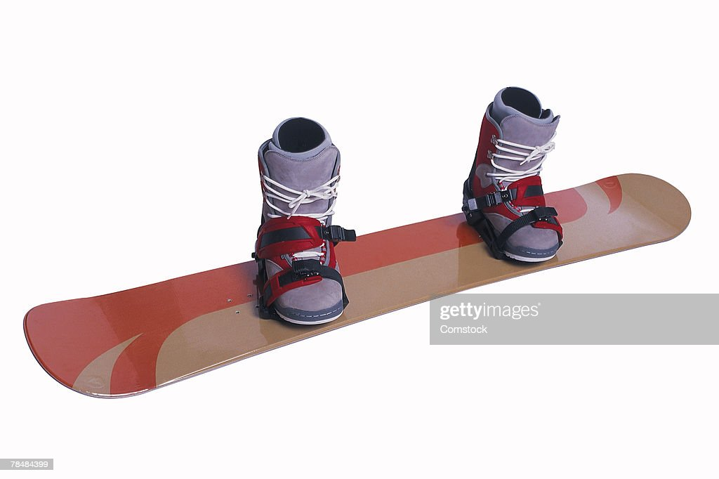 Snowboard with boots : ストックフォト