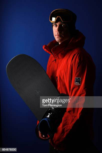 Snowboarder Alex Diebold poses for a portrait during the Team USA Media Summit ahead of the PyeongChang 2018 Olympic Winter Games on September 27...