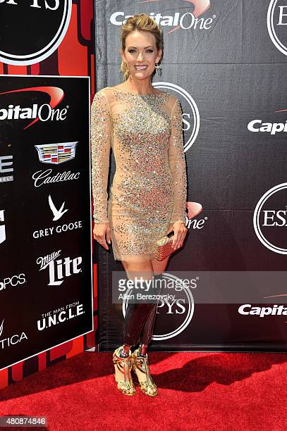 Snowboarder Amy Purdy arrives at the 2015 ESPYS at Microsoft Theater on July 15 2015 in Los Angeles California