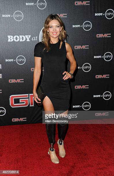 Snowboarder Amy Purdy attends ESPN Presents BODY At ESPYS PreParty at Lure on July 15 2014 in Hollywood California