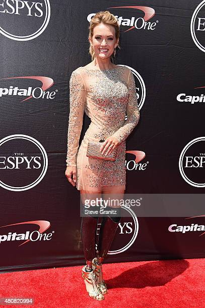 Snowboarder Amy Purdy attends The 2015 ESPYS at Microsoft Theater on July 15 2015 in Los Angeles California