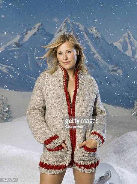 Snowboarder AnneFlore Marxer is photographed for Men's Health Magazine on September 27 2007 in New York City