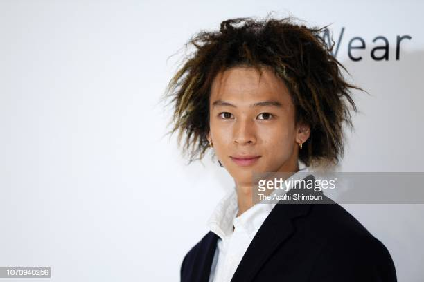 Snowboarder Ayumu Hirano attends an Uniqlo press conference on November 13 2018 in Tokyo Japan