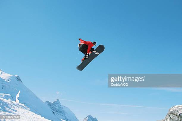 Snowboarder Catching Big Air