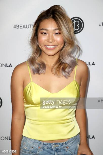 Snowboarder Chloe Kim attends Day 1 of the 5th Annual Beautycon Festival Los Angeles at the Los Angeles Convention Center on August 12 2017 in Los...