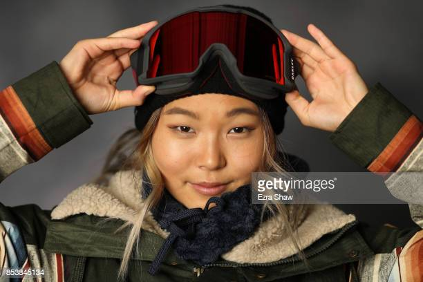 Snowboarder Chloe Kim poses for a portrait during the Team USA Media Summit ahead of the PyeongChang 2018 Olympic Winter Games on September 25 2017...