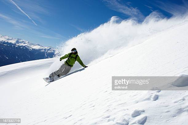 snowboarder freerider - boarding stock pictures, royalty-free photos & images