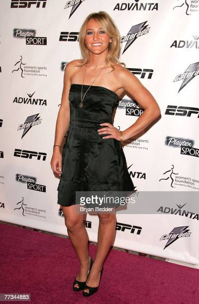 Snowboarder Gretchen Bleiler arrives on the Playtex Sport Pink Carpet at the Women's Sports Foundation's 28th Annual Salute to Women in Sports at the...