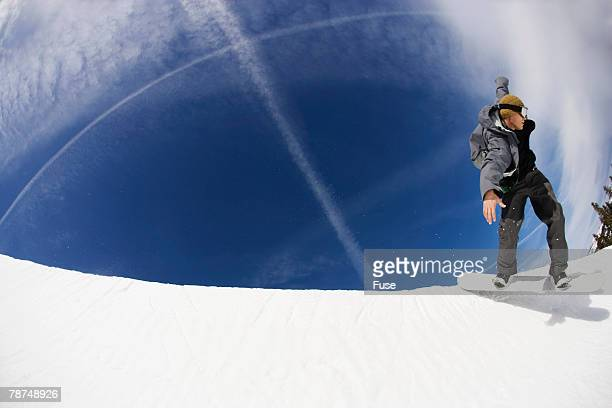 Snowboarder in Halfpipe